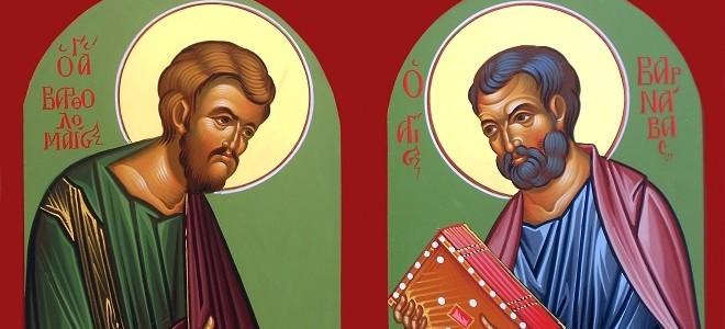 Апостолы Варфоломей и Варнава